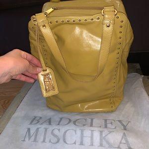 Badgley Mischka mustard yellow bag